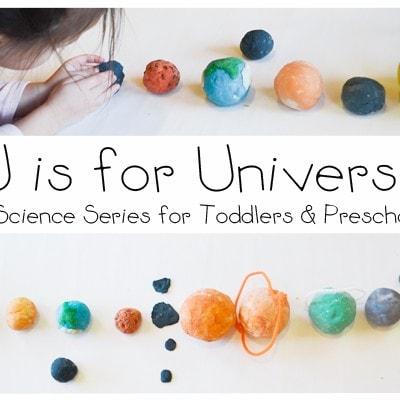 STEM Preschool Activity: U is for Universe + Free Printable