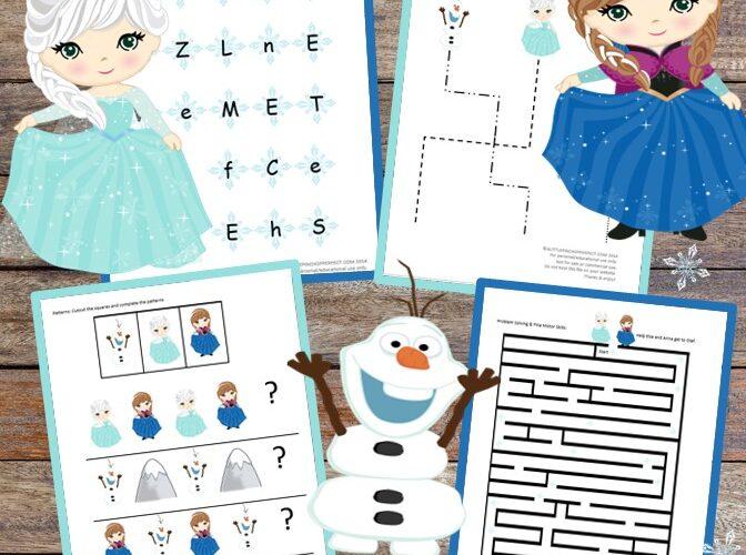 Disney Frozen Inspired Childrens Activity Pack full of free printables (#printables #disney #frozen #kidsactivity)