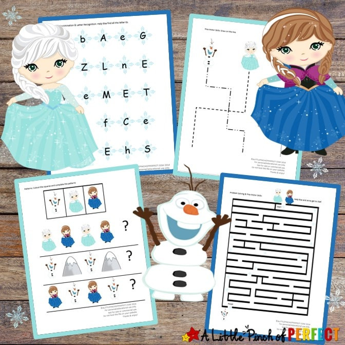 Disney Frozen Inspired Childrens Activity Pack full of free printables (#printables #disney #frozen #kidsactivity)