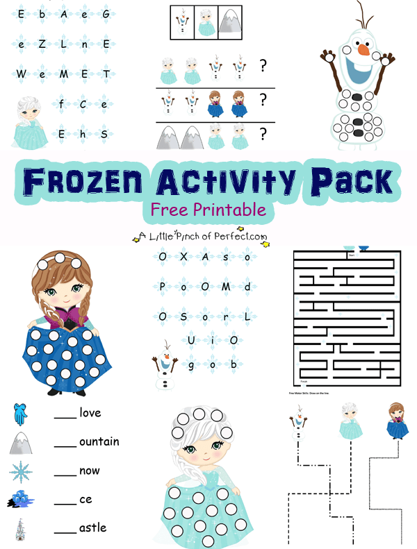 photograph about Free Olaf Printable identified as Disney Frozen Impressed Free of charge Printable Game Pack -