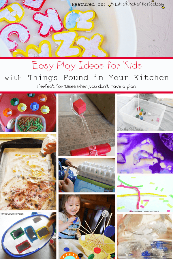 Easy Play Ideas For Kids With Things Found In Your Kitchen