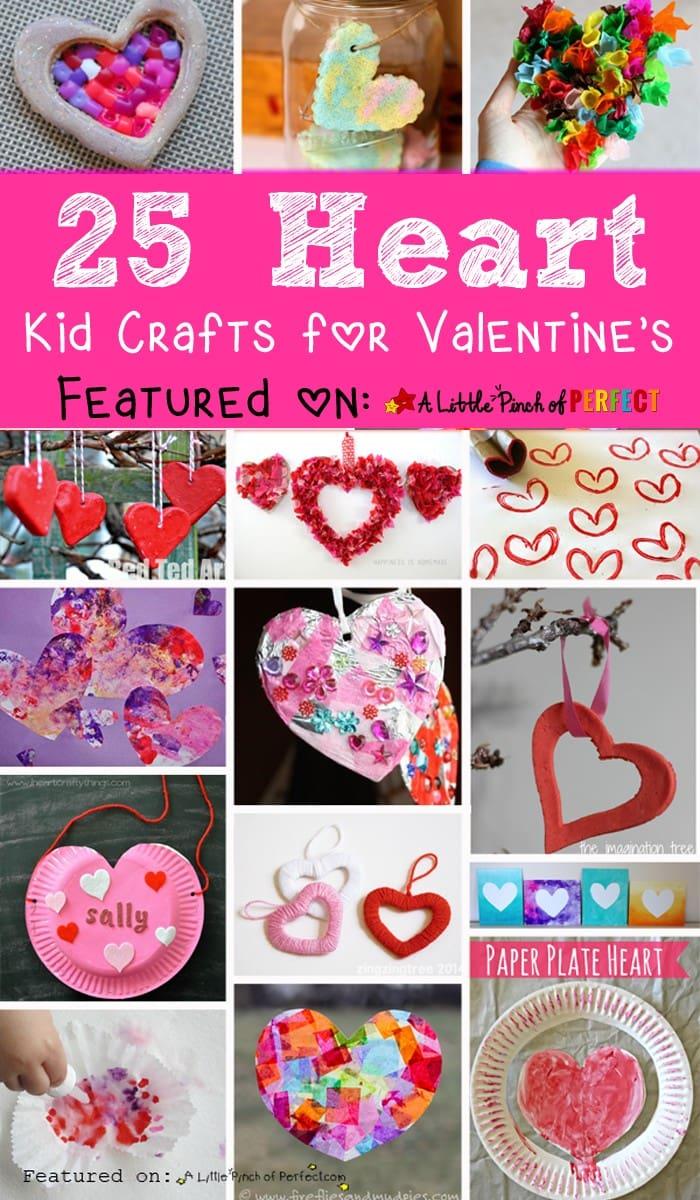 Adorable Valentine's Day Heart Craft Ideas for Kids (#craft #kids #valentines)