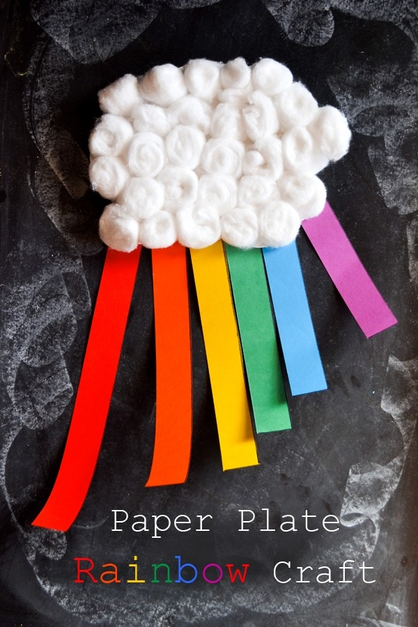 Paper Plate Rainbow Craft to Learn the Colors of the Rainbow: Perfect for spring, weather activities, or St. Patrick's Day