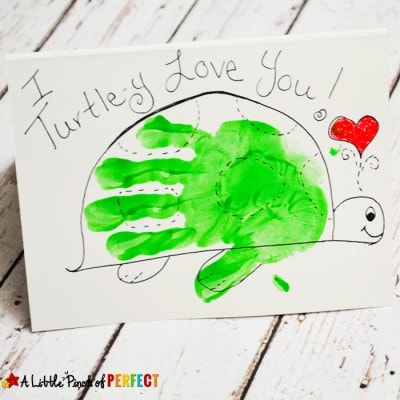 I Turtle-Y Love You Valentine's Day Handprint Card for Kids