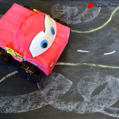 Lightening McQueen Cardboard Car Craft