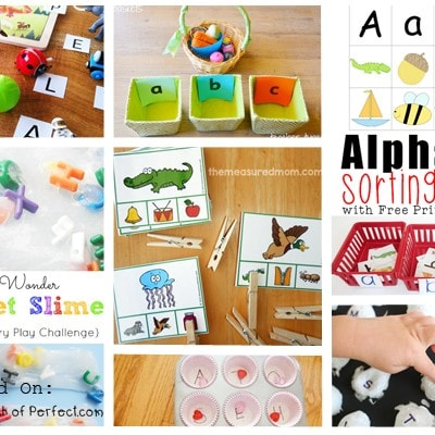 15+ Fun Alphabet Activities (Love to Learn Linky #29)