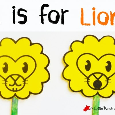Letter of the Week A-Z Series: L is for Lion
