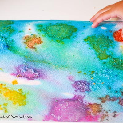 Process Art: Colored Salt Painting For Kids