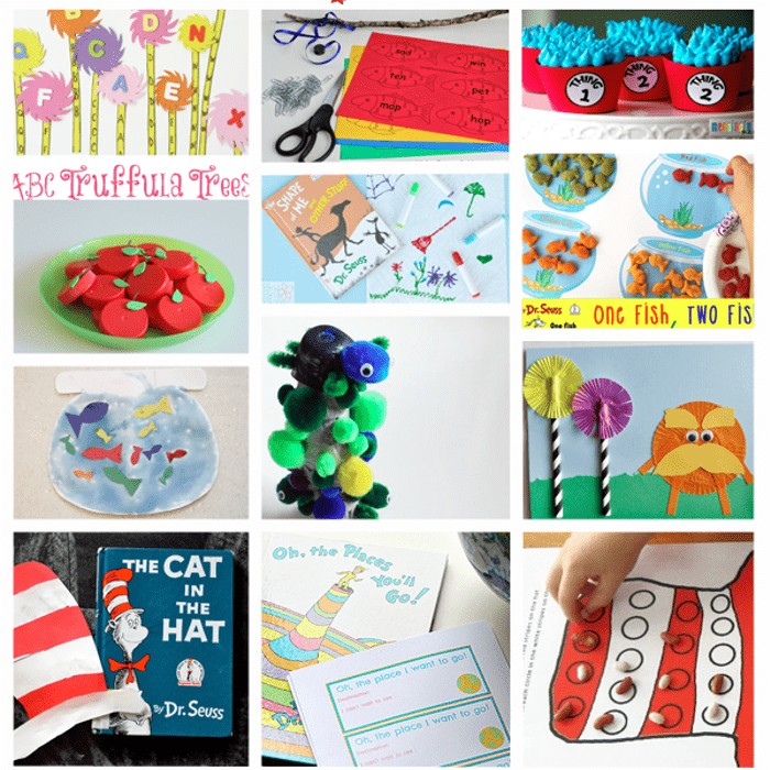 Dr. Seuss Inspired Crafts and activities for creative fun and learning