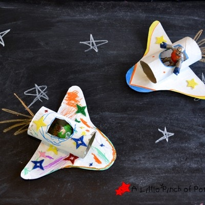 Cardboard Tube Space Shuttles & Happy Handmade Book Review