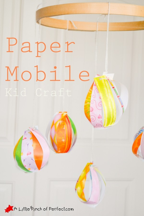 Pretty Paper Easter Egg Kids Craft