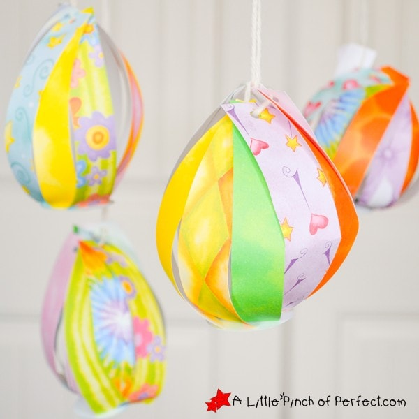 Pretty Paper Easter Egg Craft for Kids