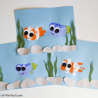 Finding Nemo & Dory Handprint Fish Craft