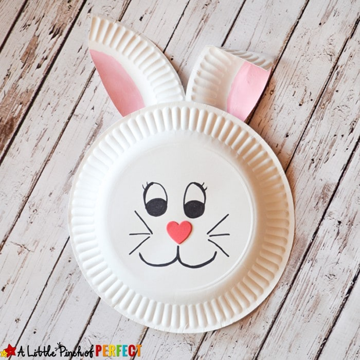 Paper Plate Bunny Rabbit Craft for Kids: Perfect for spring, Easter, or enjoying a bunny book with the kids