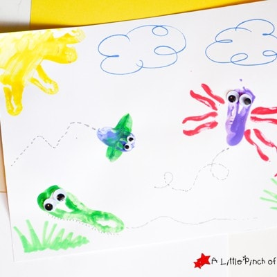 Bell Pepper Stamping Bug Craft