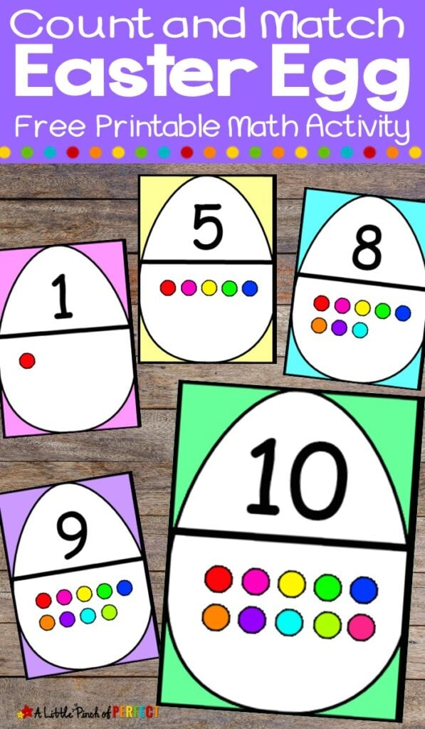 Use these Easter Egg cards to set up easy and fun activities to practice numbers with your preschooler. (#Preschool #kidsactivity #math #easteregg)