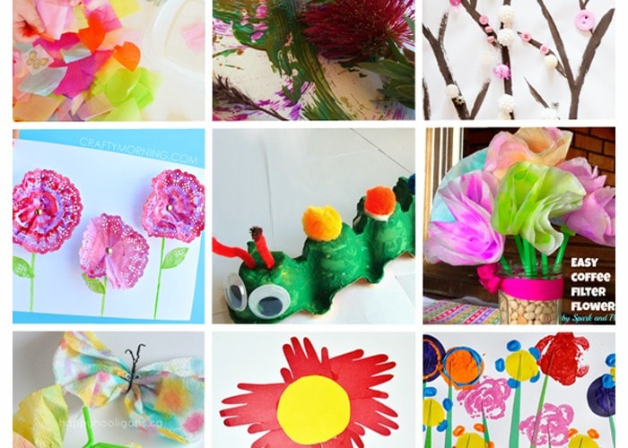 15 EASY SPRING CRAFTS: Perfect for todders, preschoolers, and creative kids (flowers, trees, bugs and more)