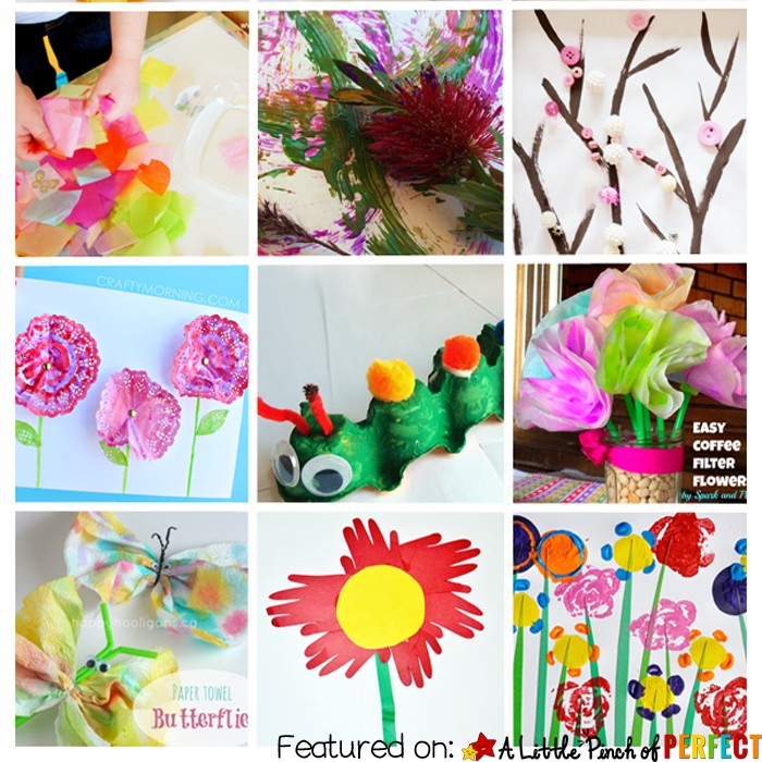 15 EASY SPRING CRAFTS: Perfect for toddlers, preschoolers, and creative kids (flowers, trees, bugs and more)