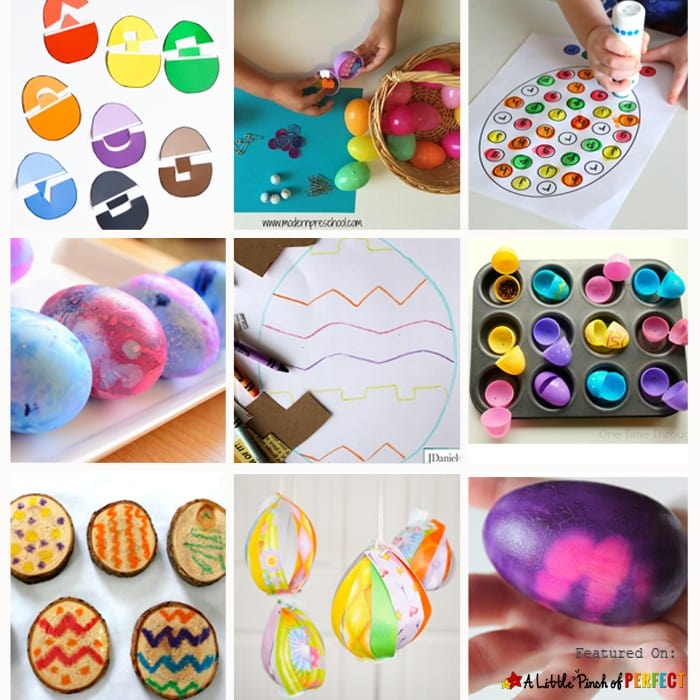 Easter Egg Craft and Activities for Kids to learn, create, and play.