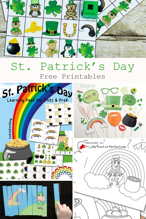 25+ Fun Kids Activities for St Patrick's Day: Ideas include rainbow slime, leprechaun and clover crafts, free coloring pages, printables and lots more!