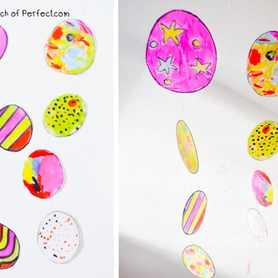 Stained Glass Easter Eggs Milk Carton Kids Craft