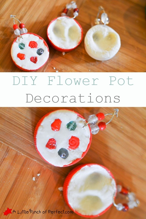 DIY Clay Flower Pot Decorations