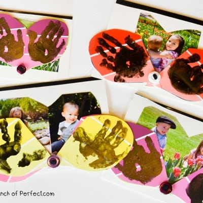 Handprint Heart Photo Surprise Card for Mother's Day & Father's Day