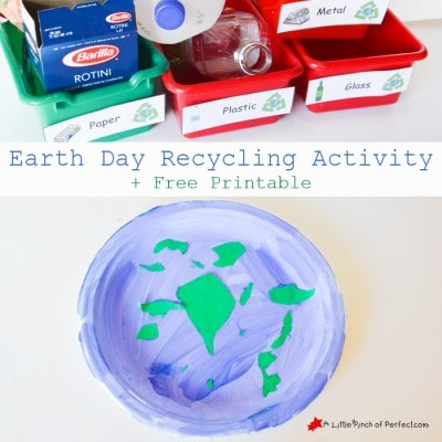 Earth Day Recycle, Reuse, Reduce Sorting Activity + Free Printable