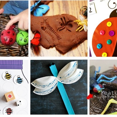 26 Fun Bug Themed Crafts, Activities, and Printables for Kids