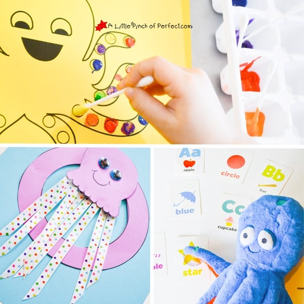 O is for Octopus Activities, Crafts, and more