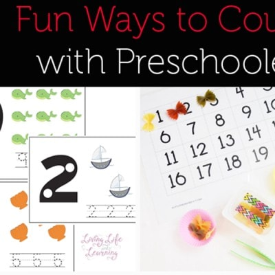 5 Fun Ways to Count with Preschoolers (Love to Learn Linky #41)