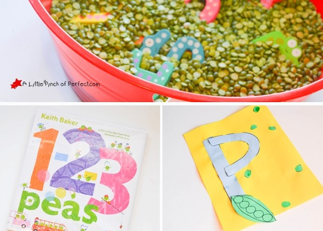 P is for Peas: crafts, activities, and printables for preschoolers and toddlers inspired by two of our favorite books, LMNO Peas   and 1-2-3 Peas by Keith Baker.