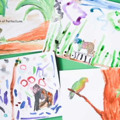 Rainforest Animals: Printable Coloring Prompts for Kids