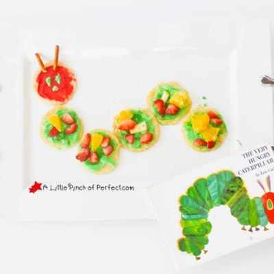 Baking with Kids: The Very Hungry Caterpillar Fruit Pizza (Cookies)