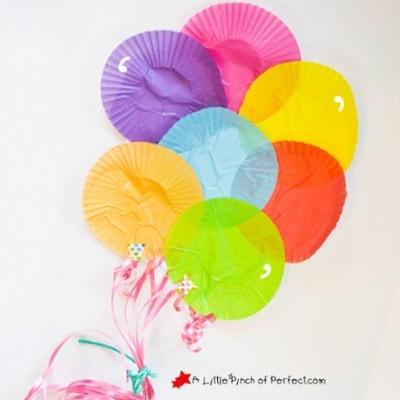 Adorable Cupcake Liner Balloon Craft for Kids