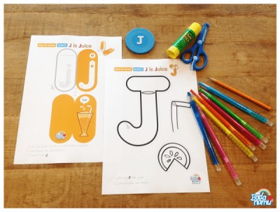 J is Juice Craft and Fun Letter Learning Activities with Badanamu