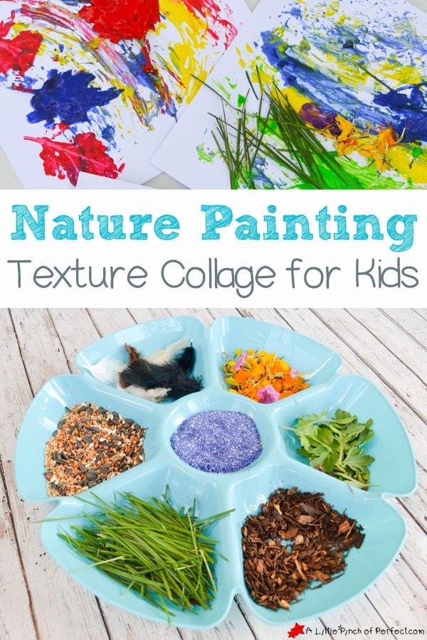 NATURE PAINTING TEXTURE COLLAGE FOR KIDS: A beautiful process art activity for all ages!
