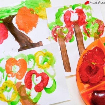 Fall Craft for Kids: Apple Tree Prints