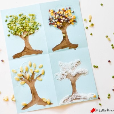 4 Seasons Nature Tree Craft for Kids