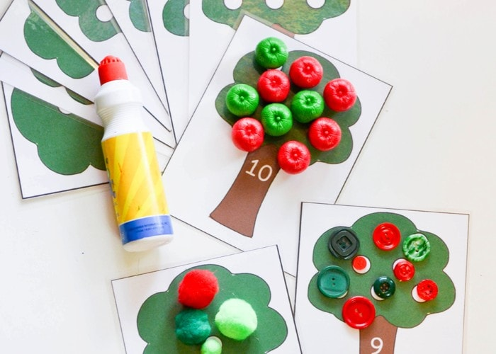 Apple Tree Math Activity and Free Printable