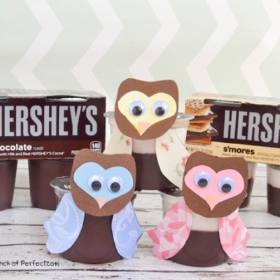 Owl Snack and Craft for Kids with Hershey's Pudding