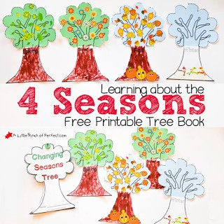 Learning About the 4 Seasons Cute Free Printable Tree Book