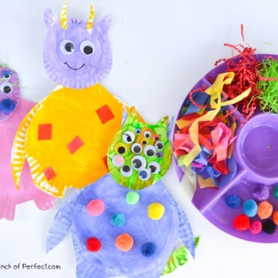 Silly Monster Paper Plate Craft for Kids