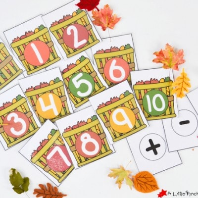 Fall Leaf Math Activities and Free Printable for Hands on Learning