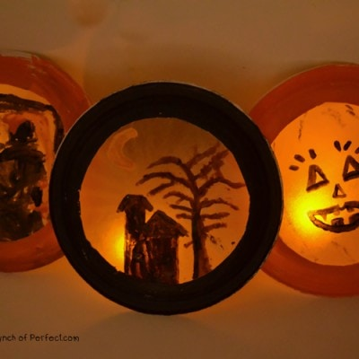 Glowing Halloween Luminaries: Easy Paper Plate and Coffee Filter Craft for Kids