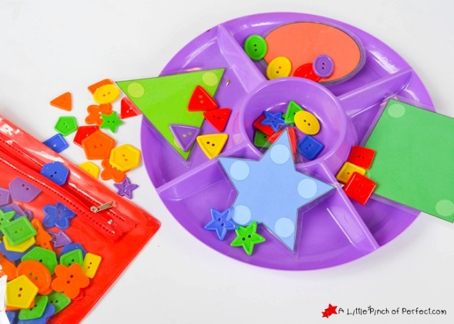 Sorting Shapes Activity for Kids