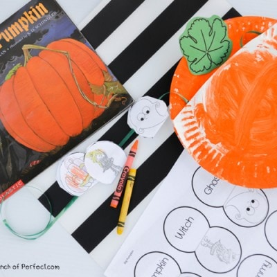 Big Pumpkin Storytelling Paper Plate Craft and Free Printable Template