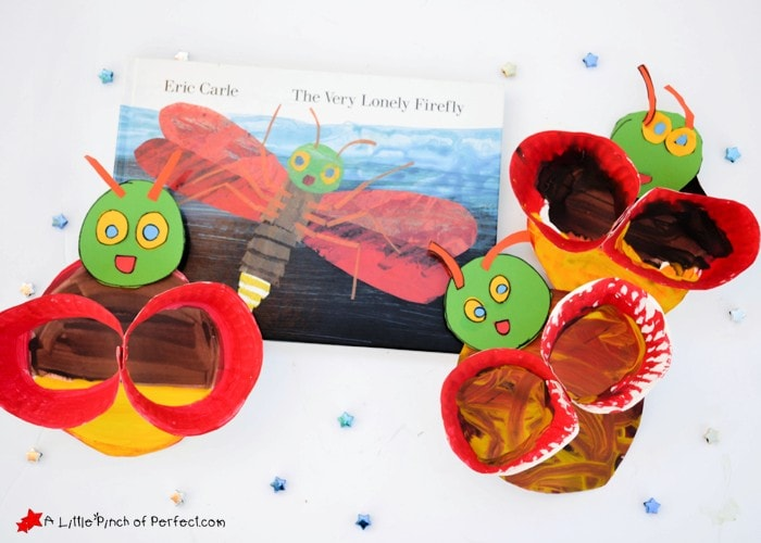 Firefly Paper Plate Craft Inspired by Eric Carle