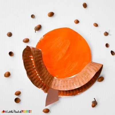 Paper Plate Acorn Craft for Kids Perfect for Fall