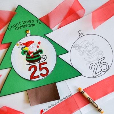 Free Printable Advent Calendar for Kids to Color and Countdown to Christmas